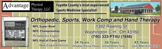 Orthopedic, Sports, Work Comp and Hand Therapy