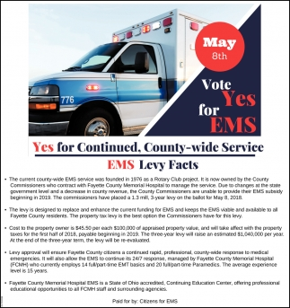 Vote Yes for EMS