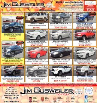 Jim Gusweiler Toyota, Jim Gusweiler Auto Group