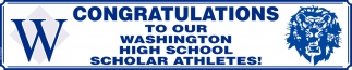 Congratulations to our Washington High School Scholar Athletes!