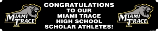Congratulations to our Miami Trace High School Scholar Athletes!