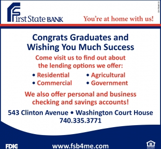 Congrats graduates and wishing you much success