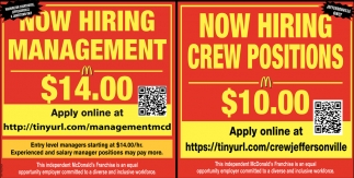 Management, Crew Positions