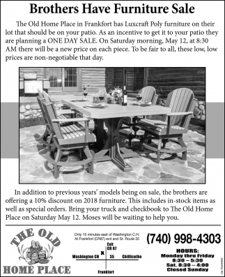 Brothers Have Furniture Sale