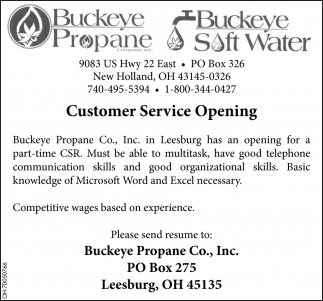 Customer Service Opening