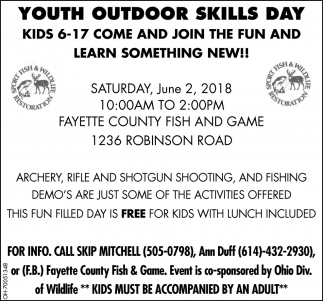 Youth Outdoor Skills Day