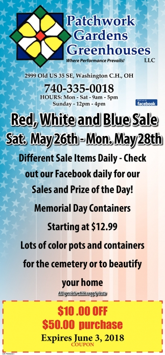 Red, White and Blue Sale