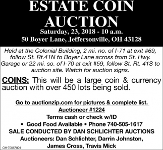 Estate Coin Auction