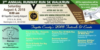 3rd Annual Runway Run 5k Walk/Run