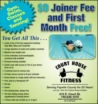 $0 Joiner Fee and First Month Free!