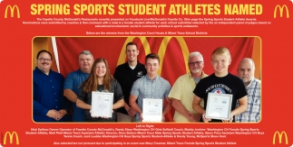 Spring Sports Student Athletes Named