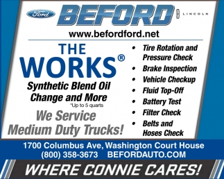 The Works Synthetic Blend Oild Change and More