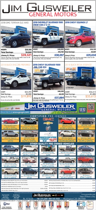 The Area's Largest Selection of New & Pre-Owned Vehicles