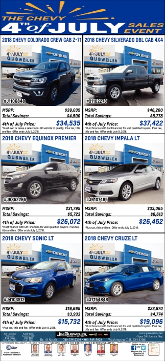 The Chevy 4th of July Sales Event