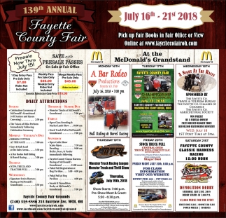 139th Annual Fayette County Fair