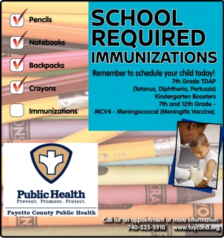 School Required Immunizations