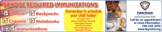 School Required Immunizations