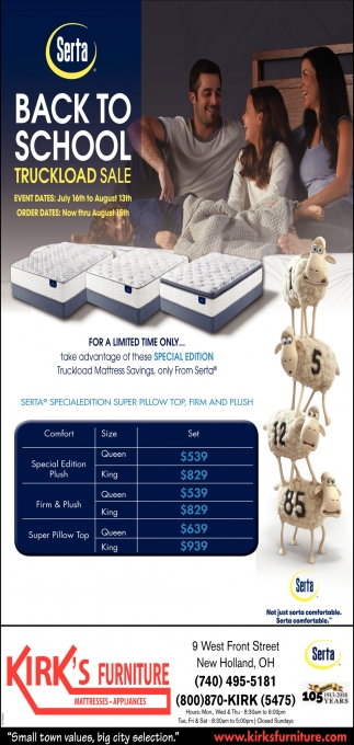 Serta Back to School Truckload Sale