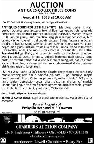 Antiques, Collectibles, Coins