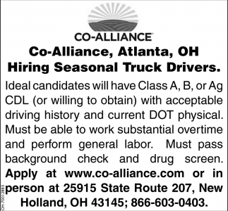 Hiring Seasonal Truck Drivers