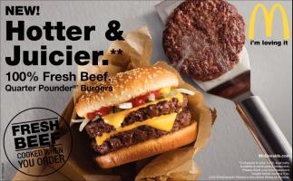 Quarter Pounder Burgers