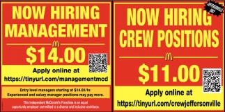Management - Crew Positions