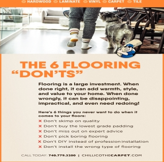 The 6 Flooring Don'ts