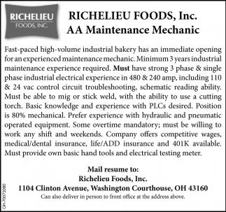 AA Maintenance Mechanic