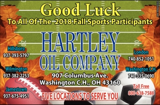 Good Luck to all of the 2018 Fall Sports Participants