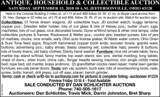 Antique Household & Collectible Auction