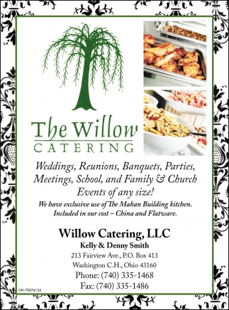 Weddings, Reunions, Banquets, Parties, Meetings