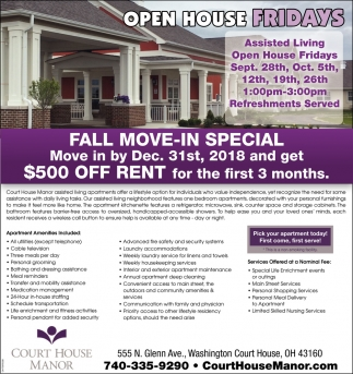 Open House Fridays