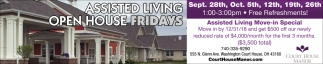 Assisted Living Open House Fridays