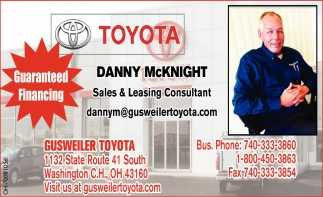 Danny McKnight Sales & Leasing Consultant
