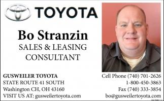 Bo Stranzin Sales & Leasing Consultant