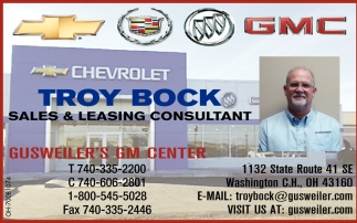 Troy Bock Sales & Leasing Consultant