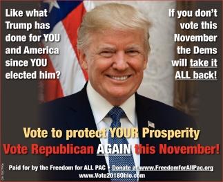 Vote Republican Again this November!
