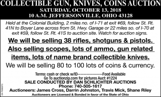 Collectible Gun, Knives, Coins