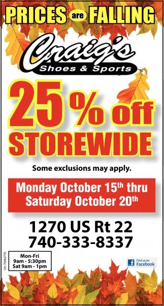 25% off storewide