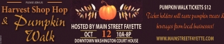 Harvest Shop Hop & Pumpkin Walk