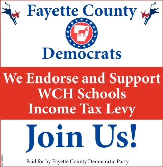 We Endorse and Support WCH Schools Income Tax Levy