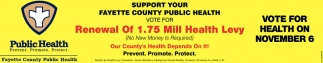 Support your Fayette County Public Health