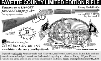 Fayette County Limited Edition Rifle