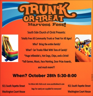Trunk or Treat Harvest Fest!
