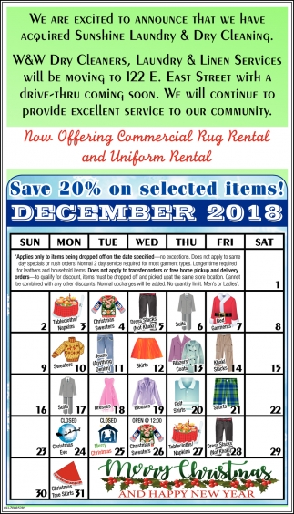 Save 20% on selected items! December 2018