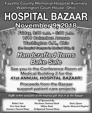 41st Annual Hospital Bazaar