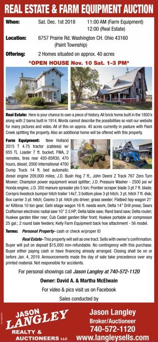 Real Estate & Farm Equipment Auction