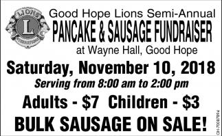 Pancake & Sausage Fundraiser