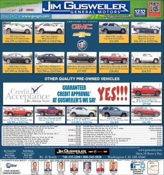 Certified Quality Pre-Owned Vehicles