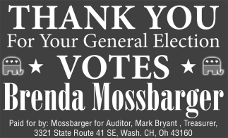 Thank you for your General Election votes